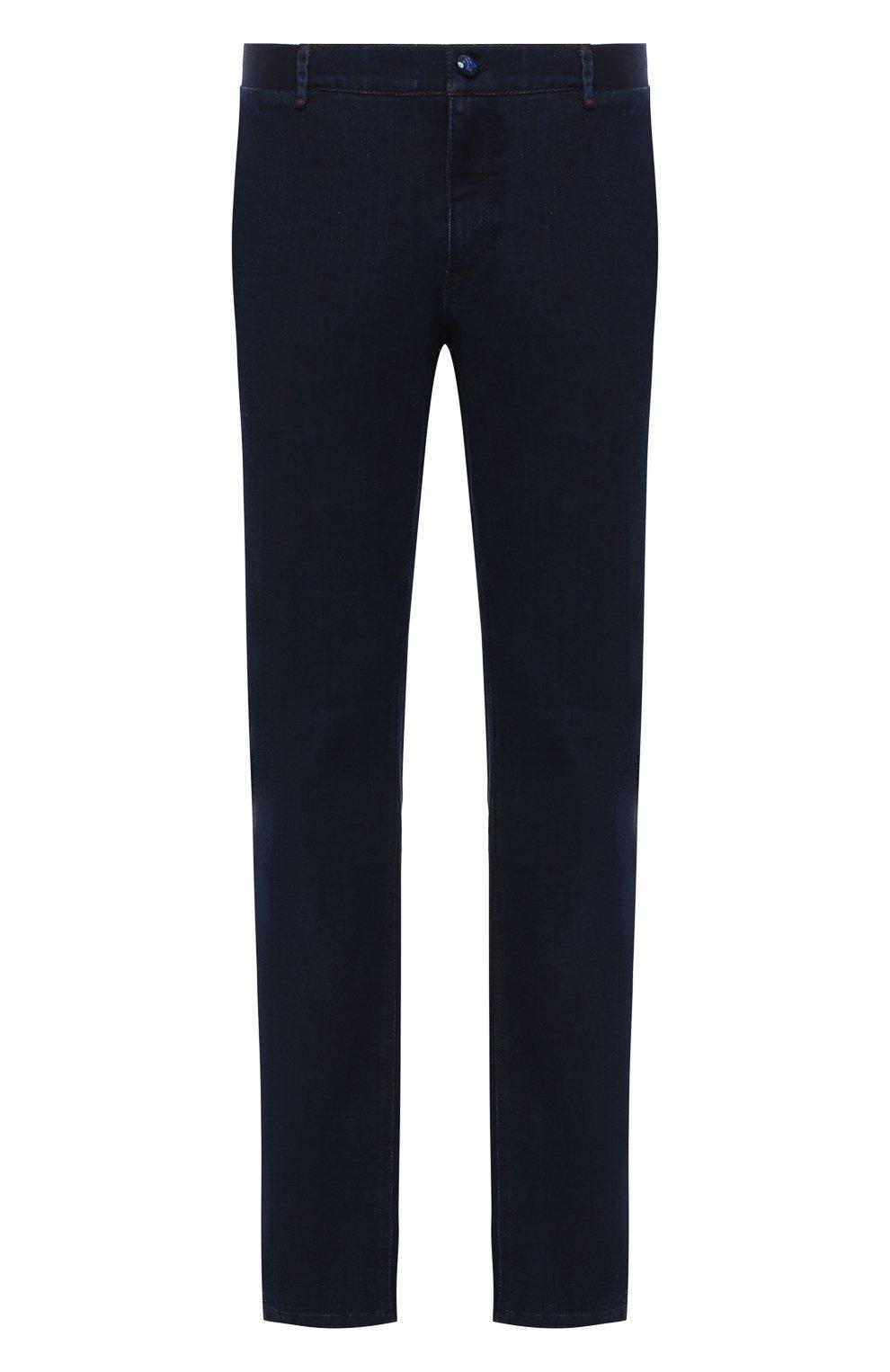 Мужские джинсы ZILLI темно-синего цвета, арт. MCU-00630-DEJA1/R001   Фото 1