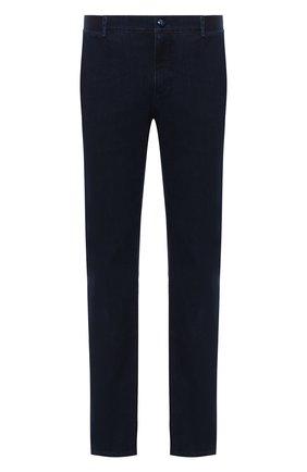 Мужские джинсы ZILLI темно-синего цвета, арт. MCU-00630-DEJA1/R001 | Фото 1 (Длина (брюки, джинсы): Стандартные; Материал внешний: Хлопок; Силуэт М (брюки): Прямые; Стили: Кэжуэл)