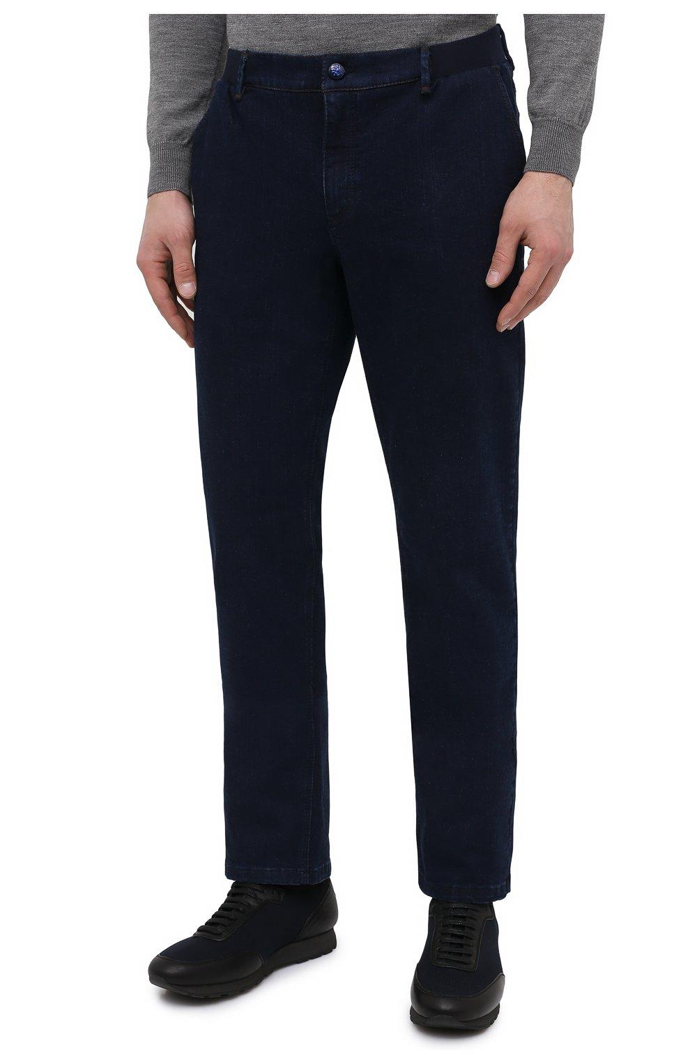 Мужские джинсы ZILLI темно-синего цвета, арт. MCU-00630-DEJA1/R001   Фото 3