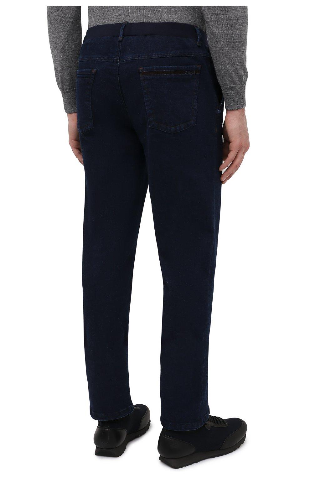 Мужские джинсы ZILLI темно-синего цвета, арт. MCU-00630-DEJA1/R001   Фото 4