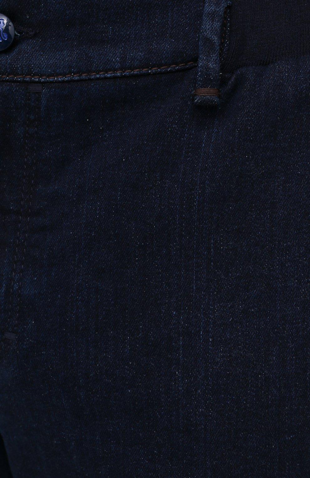 Мужские джинсы ZILLI темно-синего цвета, арт. MCU-00630-DEJA1/R001   Фото 5