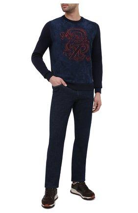 Мужские джинсы ZILLI темно-синего цвета, арт. MCU-00640-PECH1/R001 | Фото 2