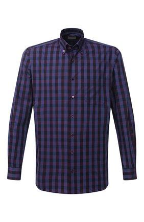Мужская хлопковая рубашка ZILLI SPORT бордового цвета, арт. MFU-7025-0001/0017 | Фото 1
