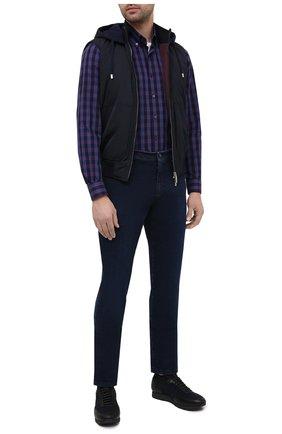 Мужская хлопковая рубашка ZILLI SPORT бордового цвета, арт. MFU-7025-0001/0017 | Фото 2