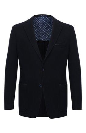 Мужской пиджак из шерсти и кашемира ZILLI темно-синего цвета, арт. MNU-ECKX-2-D6532/0001 | Фото 1