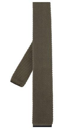 Мужской шелковый галстук BRUNELLO CUCINELLI хаки цвета, арт. MQ8780018 | Фото 2