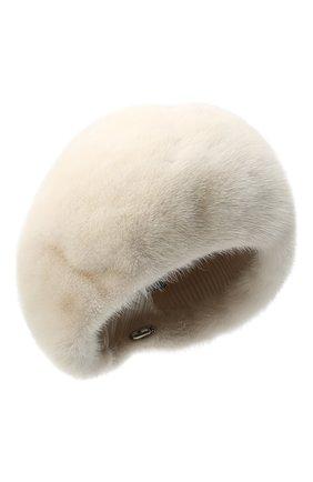 Женский берет из меха норки FURLAND бежевого цвета, арт. 0013600110027300576   Фото 1