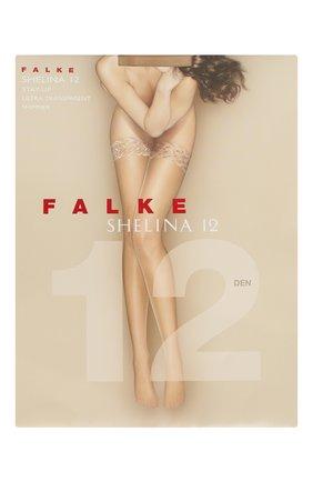 Женские чулки shelina 12 FALKE светло-бежевого цвета, арт. 41526 | Фото 1