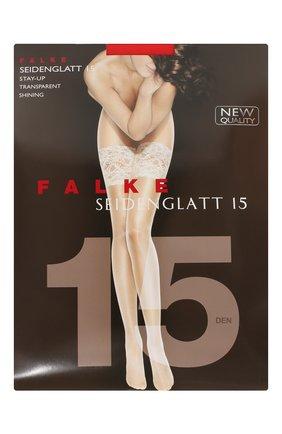 Женские чулки seidenglatt 15 FALKE красного цвета, арт. 41590 | Фото 1