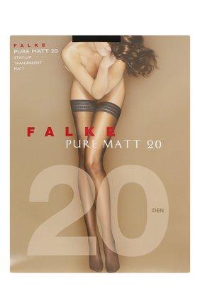 Женские чулки pure matt 20 FALKE черного цвета, арт. 41513 | Фото 1