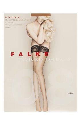 Женские чулки invisible deluxe 8 FALKE темно-бежевого цвета, арт. 41560 | Фото 1