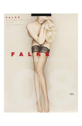 Женские чулки invisible deluxe 8 FALKE черного цвета, арт. 41560 | Фото 1
