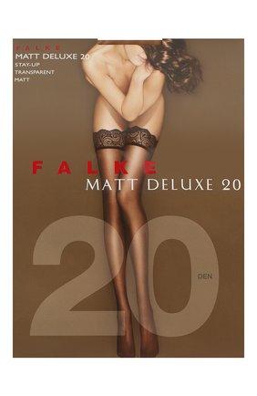 Женские чулки matt deluxe 20 FALKE темно-бежевого цвета, арт. 41520 | Фото 1