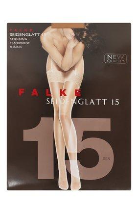Женские чулки seidenglatt 15 FALKE бежевого цвета, арт. 41519 | Фото 1