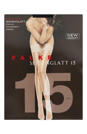 Женские чулки seidenglatt 15 FALKE черного цвета, арт. 41591 | Фото 1