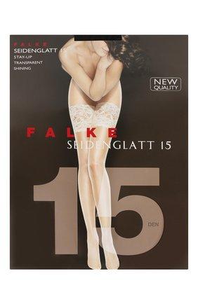 Женские чулки seidenglatt 15 FALKE черного цвета, арт. 41590 | Фото 1