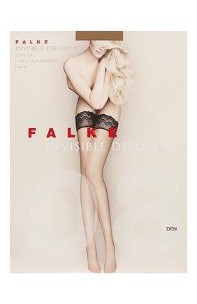 Женские чулки invisible deluxe 8 FALKE светло-бежевого цвета, арт. 41560 | Фото 1