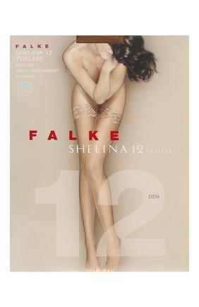 Женские чулки shelina 12 FALKE бежевого цвета, арт. 41529 | Фото 1