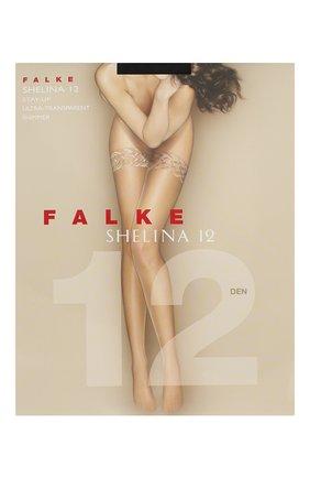 Женские чулки shelina 12 FALKE черного цвета, арт. 41526 | Фото 1