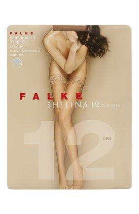 Женские чулки shelina 12 FALKE темно-бежевого цвета, арт. 41529 | Фото 1