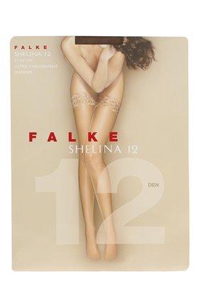 Женские чулки shelina 12 FALKE коричневого цвета, арт. 41526 | Фото 1