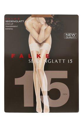 Женские чулки seidenglatt 15 FALKE бежевого цвета, арт. 41591 | Фото 1