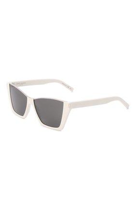 Женские солнцезащитные очки SAINT LAURENT белого цвета, арт. SL 369 KATE | Фото 1