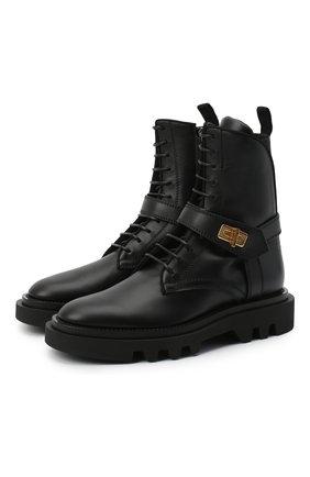 Женские кожаные ботинки GIVENCHY черного цвета, арт. BE602FE0X2 | Фото 1