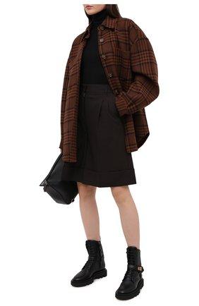 Женские кожаные ботинки GIVENCHY черного цвета, арт. BE602FE0X2 | Фото 2
