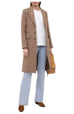 Женское шерстяное пальто POLO RALPH LAUREN коричневого цвета, арт. 211814987   Фото 2