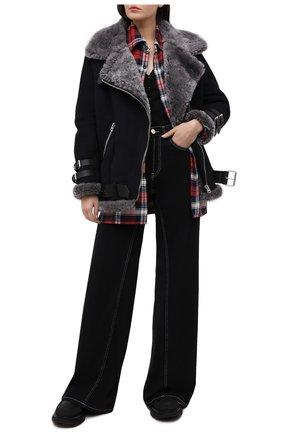 Женская дубленка ACNE STUDIOS черного цвета, арт. 1AR173/W   Фото 2