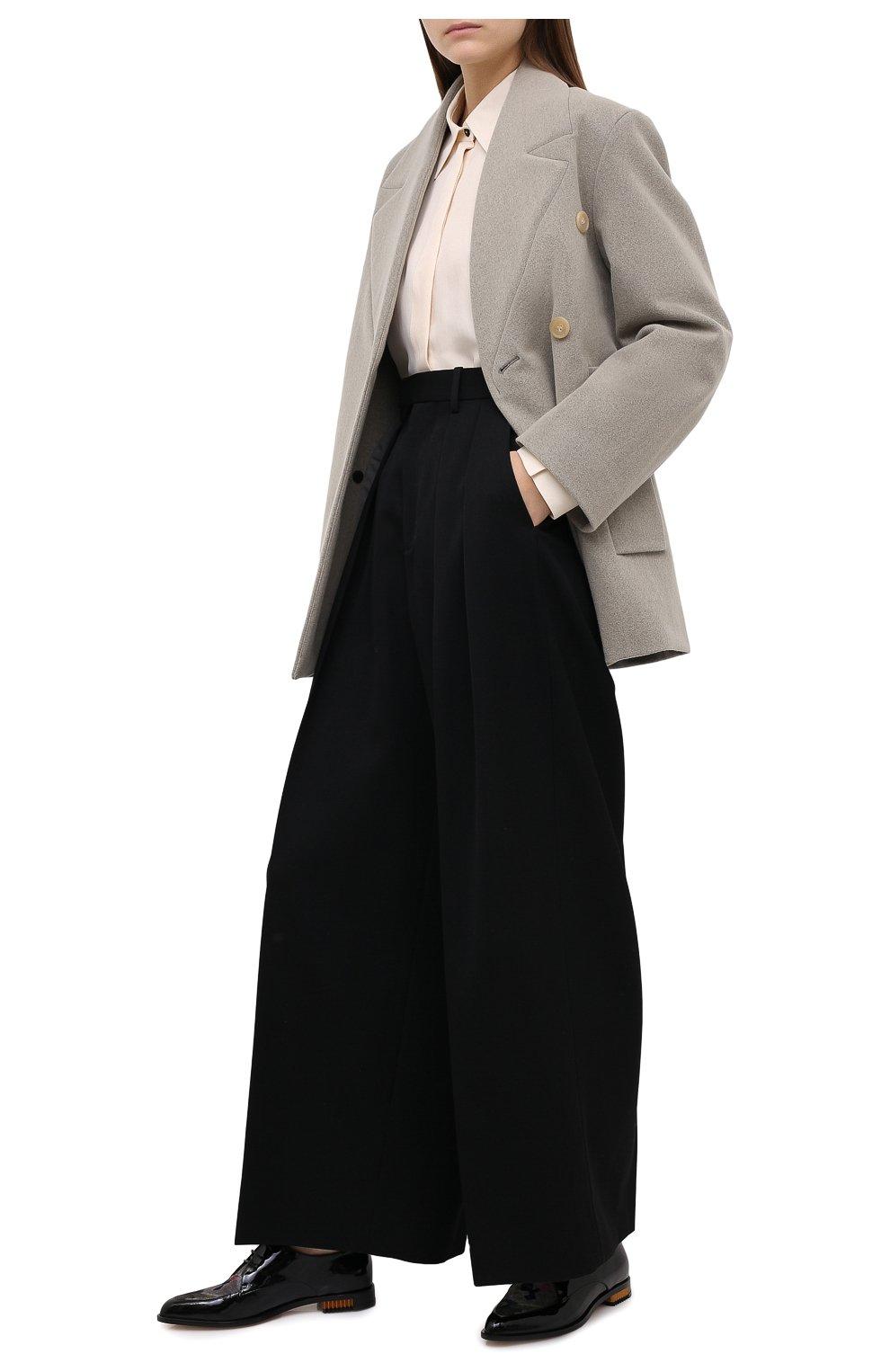 Женская кожаные дерби GIORGIO ARMANI синего цвета, арт. X1C217/XM739 | Фото 2