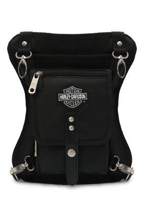 Мужской сумка на ногу HARLEY-DAVIDSON черного цвета, арт. 98223 | Фото 1