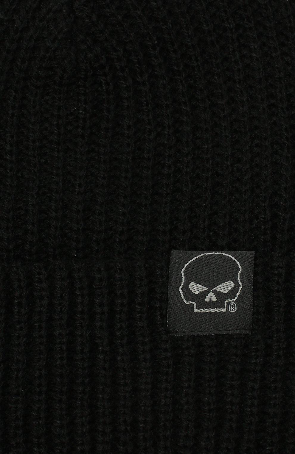 Мужская шапка HARLEY-DAVIDSON черного цвета, арт. 97601-21VM | Фото 3 (Материал: Текстиль, Синтетический материал; Кросс-КТ: Трикотаж)
