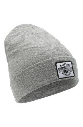 Мужская шапка HARLEY-DAVIDSON серого цвета, арт. 97641-21VM | Фото 1