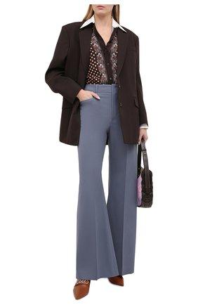 Женская рубашка из вискозы CHLOÉ коричневого цвета, арт. CHC20WHT71342   Фото 2