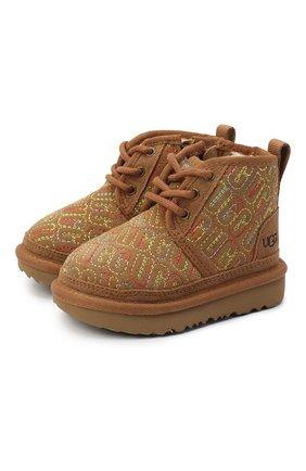 Детские ботинки neumel ii graphic stitch UGG коричневого цвета, арт. 1116170T_CHE   Фото 1