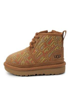 Детские ботинки neumel ii graphic stitch UGG коричневого цвета, арт. 1116170T_CHE   Фото 2
