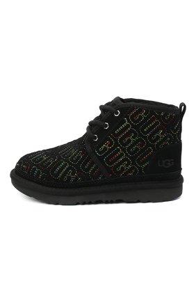 Детские ботинки neumel ii graphic stitch UGG черного цвета, арт. 1116170K_BLK   Фото 2