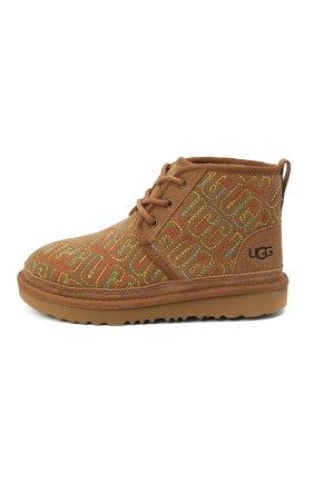 Детские ботинки neumel ii graphic stitch UGG коричневого цвета, арт. 1116170K_CHE   Фото 2
