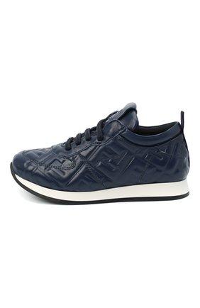 Детские кожаные кроссовки FENDI темно-синего цвета, арт. JMR339/AADS/27-31 | Фото 2