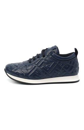 Детские кожаные кроссовки FENDI темно-синего цвета, арт. JMR339/AADS/32-39 | Фото 2