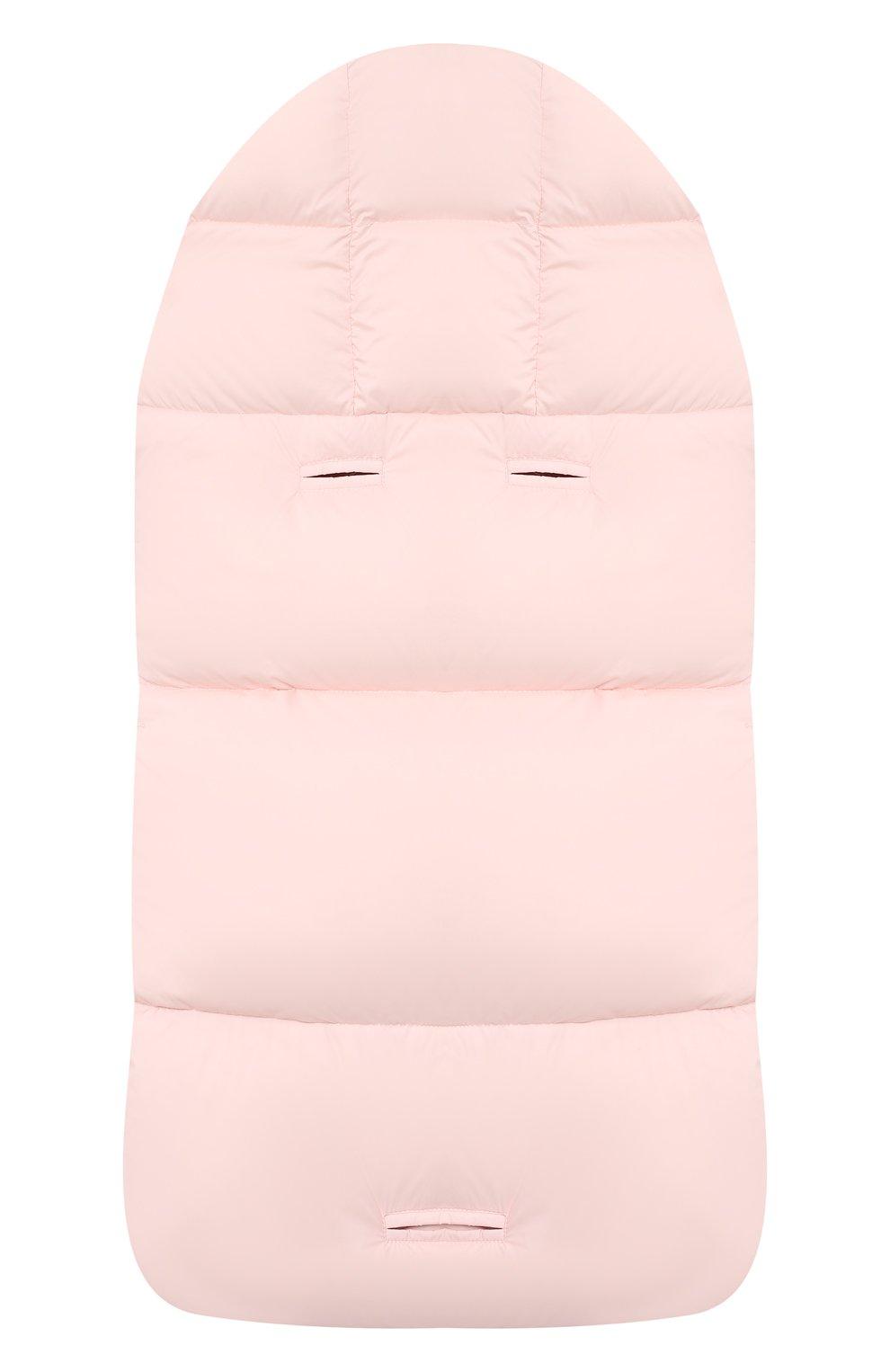 Детский пуховый конверт MONCLER светло-розового цвета, арт. F2-951-1G509-02-53333   Фото 2