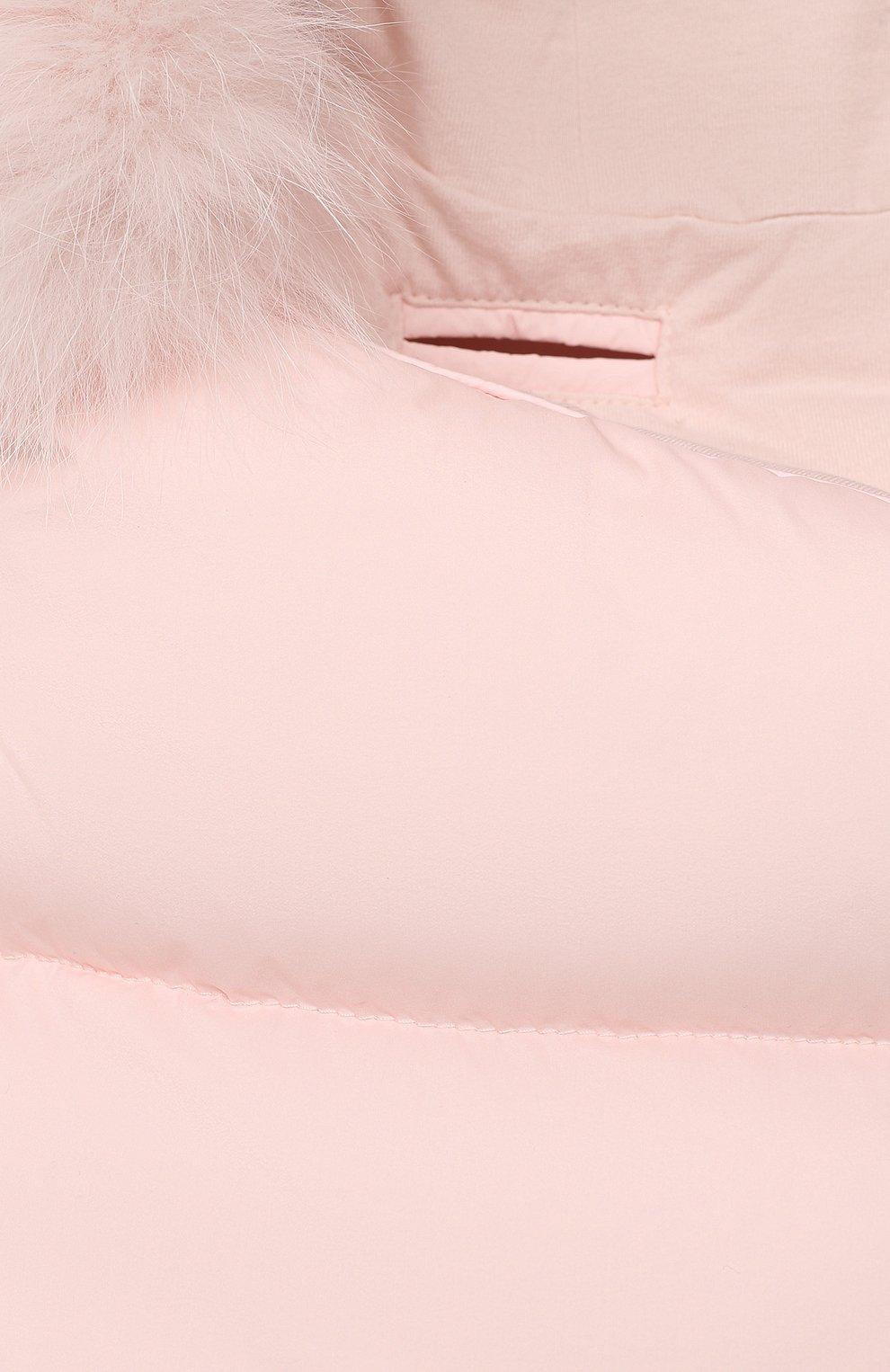 Детский пуховый конверт MONCLER светло-розового цвета, арт. F2-951-1G509-02-53333   Фото 3