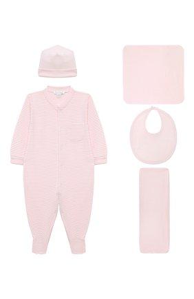 Детского комплект из пяти предметов KISSY KISSY розового цвета, арт. 44192 | Фото 1