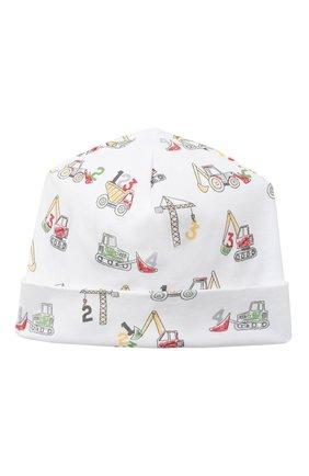 Детского хлопковая шапка KISSY KISSY белого цвета, арт. KB504821N | Фото 1