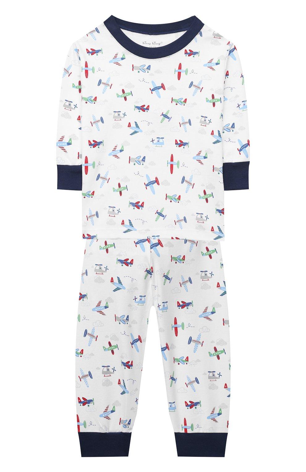 Детский хлопковая пижама KISSY KISSY разноцветного цвета, арт. KB604597I | Фото 1