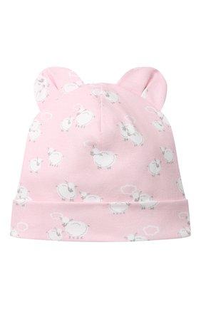 Детского хлопковая шапка KISSY KISSY розового цвета, арт. KG505043N | Фото 1