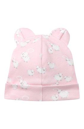 Детского хлопковая шапка KISSY KISSY розового цвета, арт. KG505043N | Фото 2