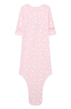 Детского комплект из платья на завязке и шапки KISSY KISSY розового цвета, арт. KGW05039N | Фото 3 (Материал внешний: Хлопок; Ростовка одежда: 0 - 3 мес | 50 - 60 см)